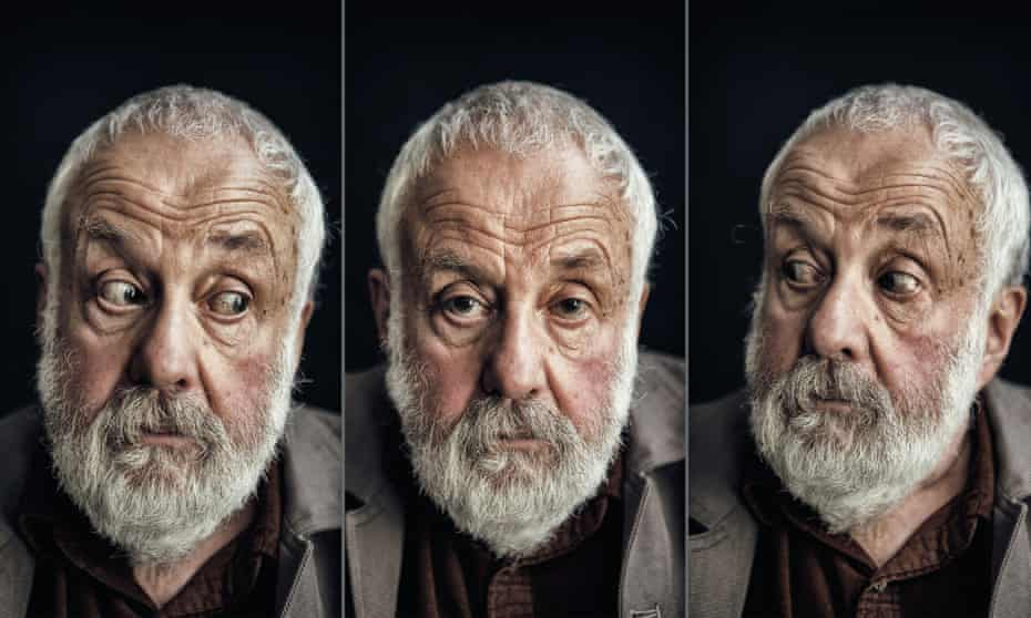 Mike Leigh photographed at his production offices in Soho.