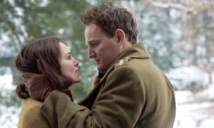 Keira Knightley and Jason Clarke as struggling couple Rachael and Lewis in The Aftermath.