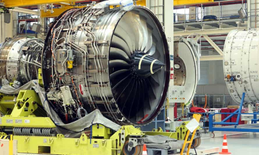 The Rolls-Royce Trent XWB airplane engine