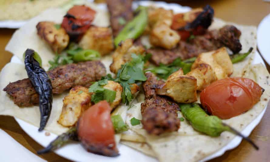 Mangal 1's charcoal grilled chicken shish and lamb kofte.