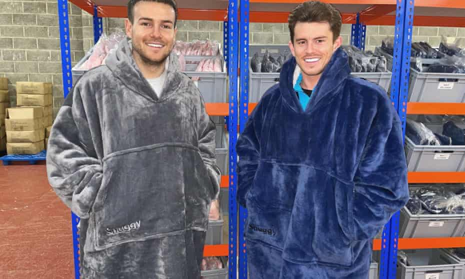 Jack Griffiths (right) with his business partner Joel Pierre. They are still waiting for their latest shipments.