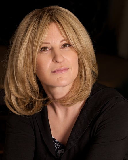 Decca Aitkenhead wearing her hair replacement system