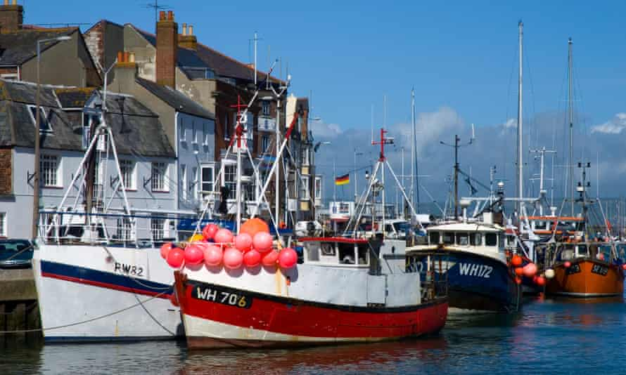 Fishing boats in Weymouth harbour, Dorset