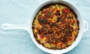 Anna Jones's leek, tomato and butternut croustade.
