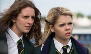 Orla McCool (Louisa Harland) and Erin Quinn (Saoirse Jackson) in Derry Girls