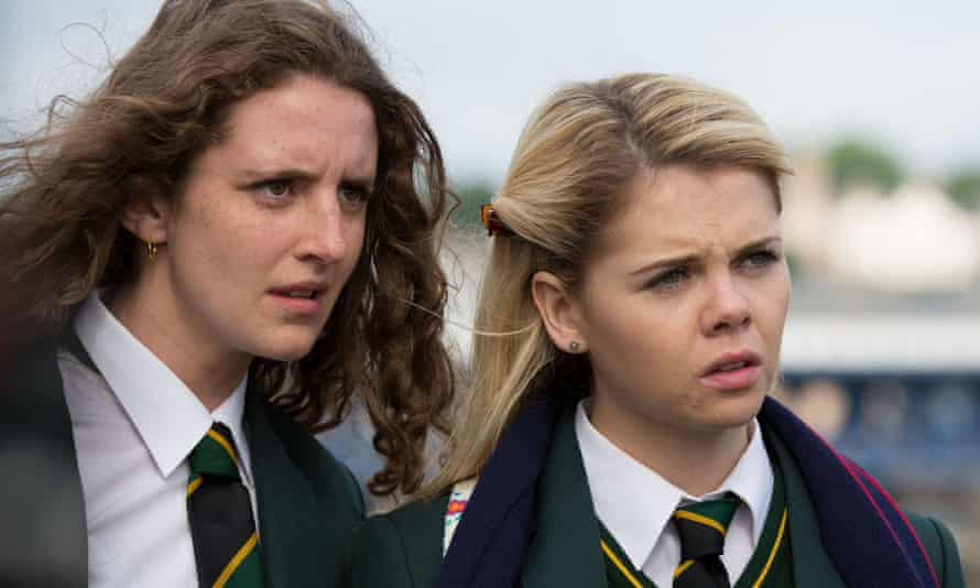 Orla McCool (Louisa Harland) and Erin Quinn (Saoirse Jackson) in Derry Girls