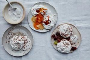 Anna Jones' aquafaba meringues with caramel