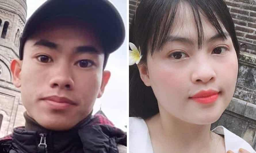 Composite image of Nguyen Dinh Luong and Pham Thi Tra My