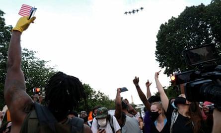 Black Lives Matter protesters in Washington