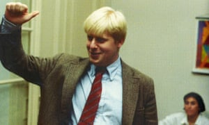 Boris Johnson at a house party in Brussels circa 1990 during his time as Daily Telegraph Brussels correspondent.