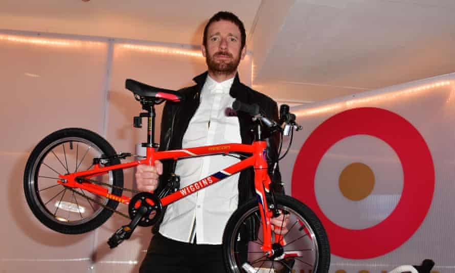 Sir Bradley Wiggins with one of his eponymous bikes.