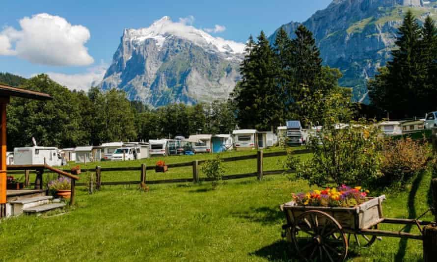 Camping Eigernordwand Grindelwald, Switzerland.