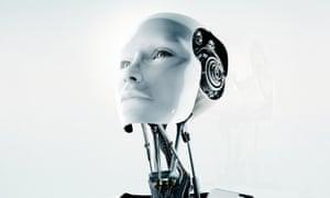 conceptual futuristic female robotA1BY30 conceptual futuristic female robot