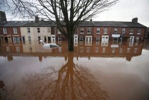 Severe flooding in Carlisle, north-west England, December 2015.