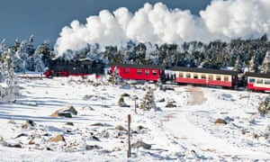 A train on the Brocken, the summit of the Harz and the farthest point west the Soviets reached into Germany.