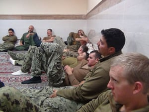 The group of US soldiers under detention in the Farsi Island