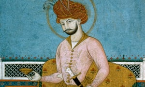 A 17th-century portrait of Shah Abbas of Persia.