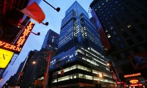 Lehman Brothers headquarters in New York's Times Square, 2008.