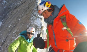 Hansjörg Auer and David Lama during a trek on in Nepal in 2016.