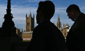 Pedestrians walk past the Palace of Westminster in central London last week.