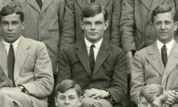 Alan Turing at Sherborne school in 1930, where he showed an early talent for maths.