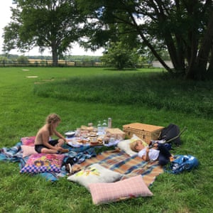 Picnic time in The Ickworth's parkland.