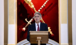 Philip Hammond delivers his Mansion House speech.