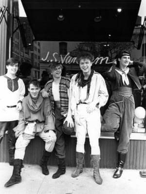 The band photographed in New York in 1981. A lot of their clothes from that era came from Oxfam, their mums' wardrobes and a few key pieces from PX – the flagship store for New Romantic style in Covent Garden.