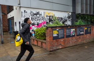 An artwork commemorating the 1977 Battle of Lewisham in New Cross which was unveiled on 26 October 2019.