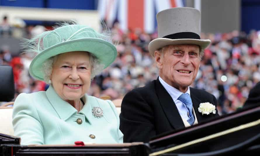 Queen Elizabeth and Prince Philip attending Ladies Day at Royal Ascot race meeting, June 2012.