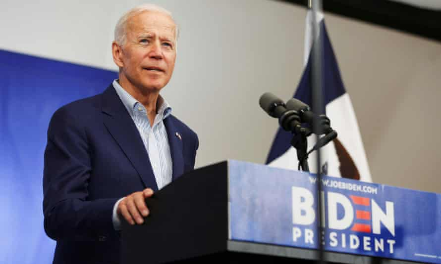 Joe Biden speaks in Davenport, Iowa, on 11 June.