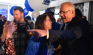 Scott Morrison at a campaign rally at the Seacliff surf lifesaving club in Adelaide