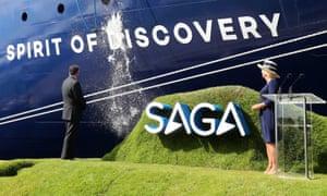 Launch of Saga ship Spirit of Discovery