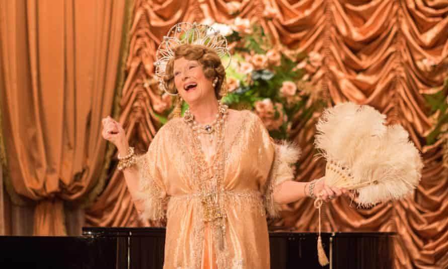 Meryl Streep as Florence Foster Jenkins, music lover, heiress, and self-deceiver extraordinaire