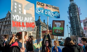 A YouthStrike4Climate protest in London on 15 February.