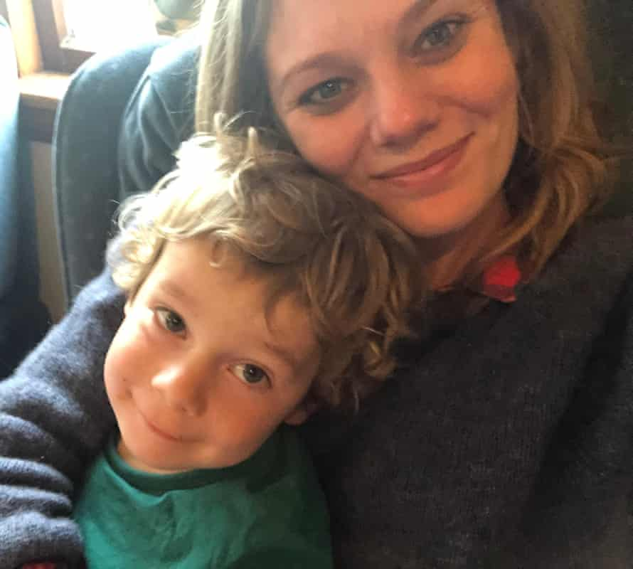 Author Angela Cuming with her son Henry