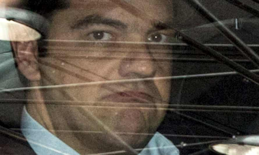 The Greek prime minister, Alexis Tsipras, arrives in his car at a eurozone summit in Brussels on Sunday.