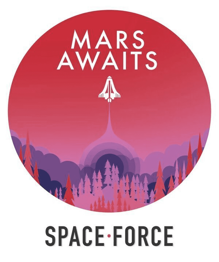 Mars Awaits Trump Supporters To Vote On Logo For Space Force