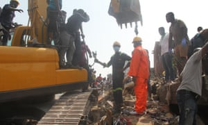 At least nine people were killed after a building housing a school collapsed in Lagos, Nigeria.