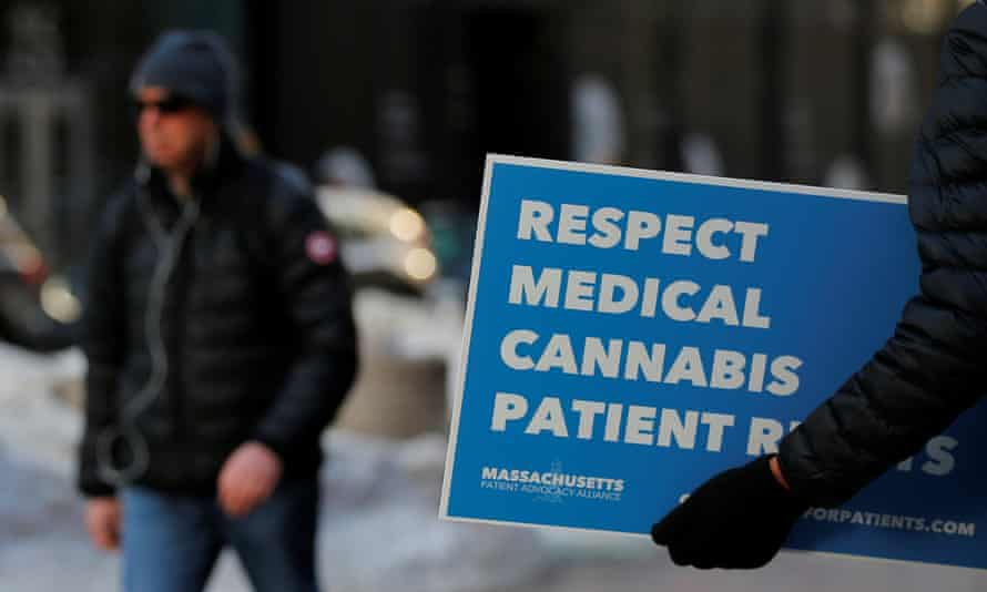 The Massachusetts Patient Advocacy Alliance protests the Jeff Sessions' decision to rescind the Obama-era policy.