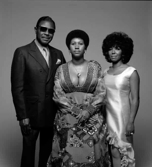(From left) CL Franklin, Aretha and Carolyn, in New York, 1971.