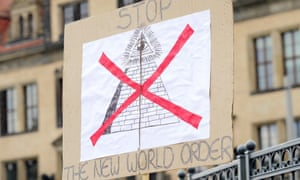 A protest sign outside Bilderberg 2016 in Dresden