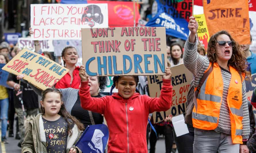 Protesters in Bristol last month campaigning against cuts to education.