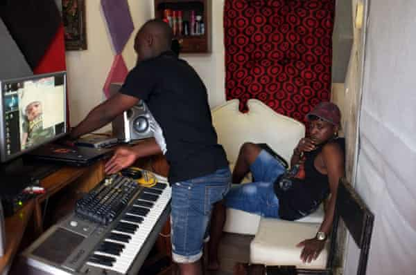 Jay Mitta (left) and Bamba Pana in their studio.