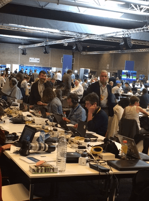 Press room at Nato conference