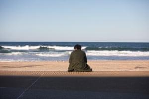 Gavin Ritchie at a beach