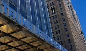 Trump International Hotel and Tower sign in Manhattan
