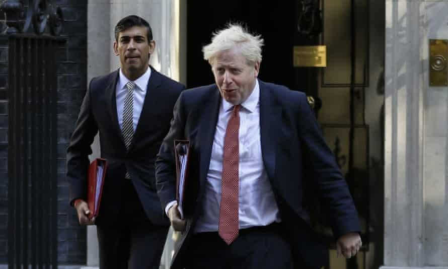 The prime minister, Boris Johnson, and the chancellor of the exchequer, Rishi Sunak