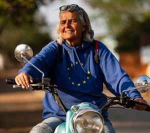 Ulrike Reinhard, founder of The Rural Changemakers, the German organisation that funds Janwaar Castle