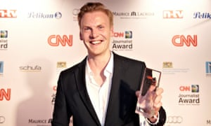 Claas Relotius at a CNN awards ceremony in 2014.